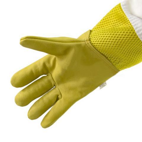 """Перчатки кожаные желтые, с вентиляцией """"Air-Premium"""""""