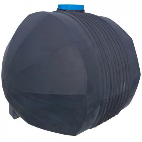 Емкость черная для перевозки технической воды 5000 л