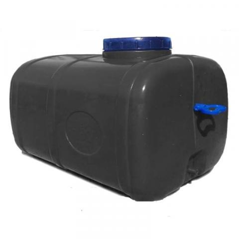 Бочка прямоугольная непищевая черная 125 литров