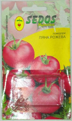 Помидоры ЛЯНА РОЖЕВА (0,2 г. инкрустированных семян)-SEDOS