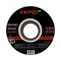 Уплотнитель самоклеющийся коричневый, D-тип, 9х7,5мм, 100 м - Дніпро-М