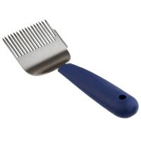 Вилка для распечатки, нерж, прорезиненая ручка, синяя