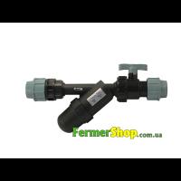 Фильтрационный узел для ПВХ трубы 32 мм (регулируемый)