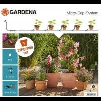 Комплект для расширения микрокапельного полива Micro-Drip-System на 5 горшков - Gardena