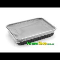 Контейнер для микрозелени с крышкой чёрный (10 шт)