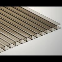 Сотовый поликарбонат Lexan 6 мм, размер листа 2100х6000 мм, бронзовый