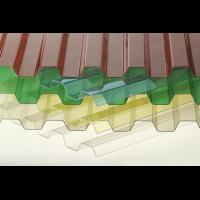 Профилированный монолитный поликарбонат Borrex 0,8 мм, размер листа 1050х4000 мм, цветной