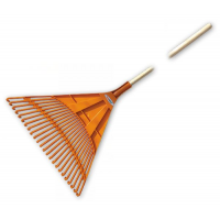 Грабли веерные 24 зубца, черенок деревянный