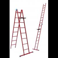 Лестница универсальная металлическая 4 ступени со столиком, h=1070-2500 мм
