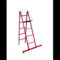 Лестница универсальная металлическая 5 ступеней со столиком, h=1340-3060 мм
