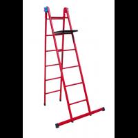 Лестница универсальная металлическая 6 ступеней со столиком, h=1610-3620 мм