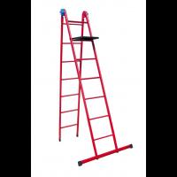 Лестница универсальная металлическая 7 ступеней со столиком, h=1880-4180 мм