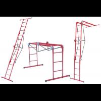 Лестница трансформер металлическая 3*4 ступени, h=1035-1650-3700 мм