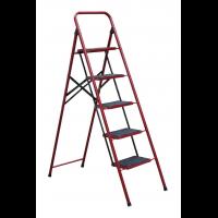 """Лестница-стремянка металлическая """"СЕМЬЯ"""" 5 ступеней с ковриком, h=1240 мм"""