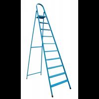 """Лестница-стремянка металлическая """"ИТАЛИЯ"""" 10 ступеней с растяжками, h=2200 мм"""