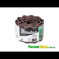Бордюр волнистый коричневый, длина 9 м, высота 10 см - BRADAS