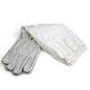 """Перчатки кожаные серые, с нарукавниками """"PU Leather"""", р-р XХL"""