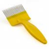 Вилка для распечатки, пластик+нерж, желтая