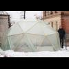 """Теплица купольная """"Солнечная"""", диаметр 5м, высота 2,5м, площадь 18м.кв., рейка 20х40 строганая, без пленки"""
