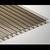 Сотовый поликарбонат Soton 8 мм, размер листа 2100х6000 мм, бронзовый