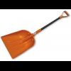Лопата пластиковая, оранжевая 130 см, с металлическим черенком
